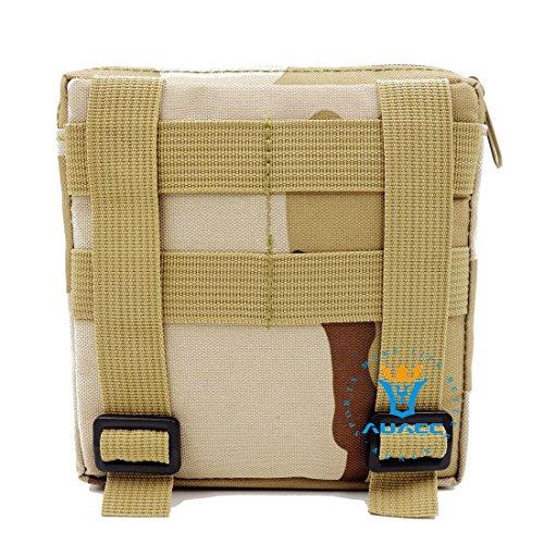 15x 15cm Ultra-Multifunktions Survival Gear Tactical Beutel MOLLE-Tasche, Outdoor Camping Tragbare Travel Bags Handtaschen Werkzeug Taschen Taille Tasche Handytasche DCU