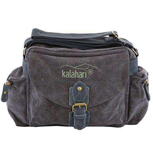 fototasche kalahari Kalahari 440163 Schultertasche Molopo K-41i, canvas-schwarz