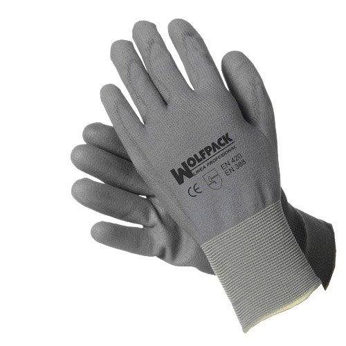 Wolfpack Designs (Wolfpack 15031065–Handschuh aus Polyurethan/Nylon Seattle mit Hänger, 6