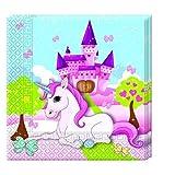 20 Servietten Unicornio de Disney para Cumpleaños niños o Fiesta temática fiesta Servilletas fiesta servilletas Motto Unicornio Niña Mundo de ensueño Candado Nubes