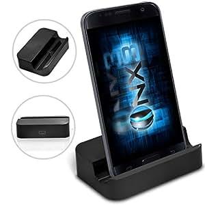 (Black) Lenovo Vibe K5 Plus Desktop USB Base Stand Data Sync Charging Dock Station ONX3®