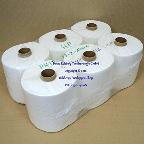 Rehberg´s Handtuchrollen 4 VE = 24 Papierrollen geeignet für Spender LOTUS enMotion Impulse und Tork-Spender H14 Rollenbreite 19 cm 140 m 2-lagig mit ausziehbarem Doppelkern Ø-19 cm -