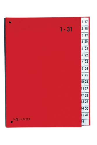 Pagna 24329-01 Pultordner, 1-31, Color-Einband, 32-teilig, rot