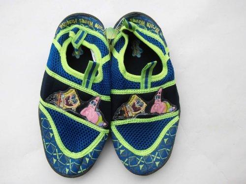 Spongebob - Kinder Strandschuhe - Wasserschuhe - Patrick und Spongebob - blau mit gelb abgesetzt - Gr. ca. 33 - aus (Spongebob Kinder Schuhe)