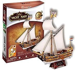 Cubicfun - Puzzle 3D Yacht Mary de 83 piezas (Cubic Fun T4010h)