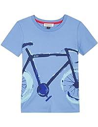 Jean Bourget TS Visu Bleu, T-Shirt Bambino