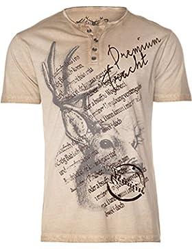 Herren Trachtenshirt T-Shirt Atl