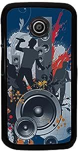 PrintVisa Music Abstract Back Cover for Motorola Moto E XT1021