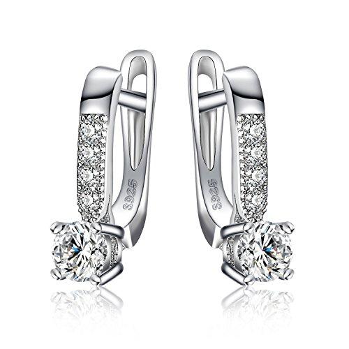 JewelryPalace 925 Sterling Silber 1ct Zirkonia CZ Creolen Geschenk Für Frauen