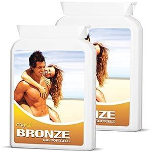 51iw8Iq6nmL. SS300  - MyTan Bronze Twin Pack Tanning Tablets | Over 12-Week Supply | Beta Carotene Tanning Pills | Sunless Tan Supplement…