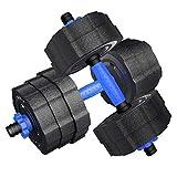 SCYDQC Haltère détachable 10kg (5kg2) Main Bell Bell Set Set Exercices de Fitness...