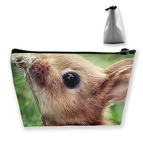 Makeup Bag Cosmetic Bag Travel Make Up Pouch Toiletry Case with Zippered Pocket for Women and Girls Rabbit Bunny Patterned