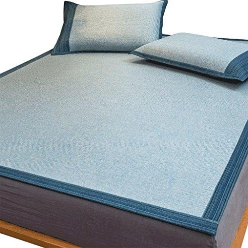 Liuyu · Tapis de siège en rotin de qualité supérieure Tapis de lit en 1,8 M Double 1,5 mètres Tapis de soie de glace en été Pliant en trois ensembles L'assurance de la qualité n'est pas de bonne quali