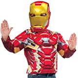 Avengers - Disfraz Iron Man con pecho, musculo y martillo en caja infantil, talla STD (Rubie's Spain 31720)