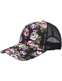 EOZY 1 PCS Casquette Visière Coton Hip-Hop Style Japon Jardin de Fleur