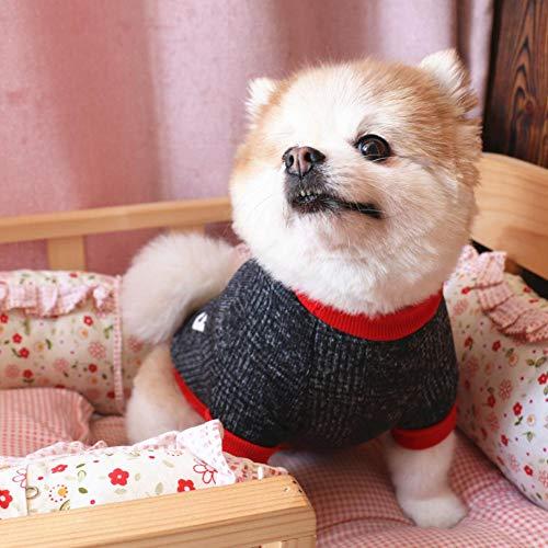 T Hund Raglan Ärmel Sweatshirt Fleece gefüttert warme Katze und Pullover Kleidung für Herbst Winter Fleece Raglan Sweatshirt