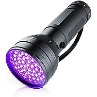 Brandson - LED UV Schwarzlicht Taschenlampe | UV-Schwarzlicht | Ultraviolett Leuchte mit 51x LEDs | Energieeffizienzklasse: A+ | hohe Beleuchtungsfläche / leuchtintensiv