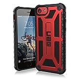 Urban Armor Gear Premium Monarch Schutzhülle nach US-Militärstandard für Apple iPhone 8 / 7 / 6S / 6 - Crimson (rot) [Verstärkte Ecken, Sturzfest, Leder, Strukturierter Rahmen] - IPH7/6S-M-CR