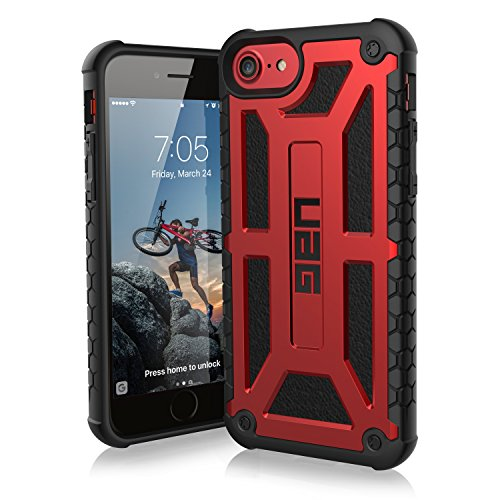 UAG iPhone 8 / iPhone 7 / iPhone 6s [4.7-inch screen] Monarch Feather-Light Rugged [CRIMSON] Military Drop Tested iPhone Case