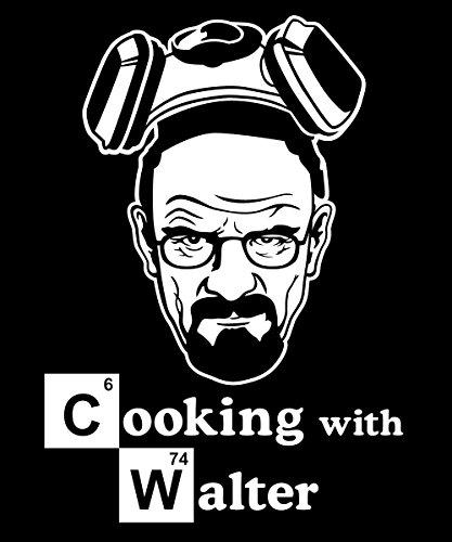 clothinx Herren T-Shirt Cooking with Walter Schwarz