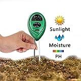 Soil PH Meter, Vimmor 3-in-1Soil tester kit misuratore di umidità del terreno con luce, misuratore di pH acidità & utensili da giardino per piante, giardinaggio, agricoltura, uso interno/all' aperto, indicatore di facile lettura (nessuna batteria necessaria)