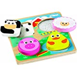Tidlo Touch and Feel Shape Matching Wooden Farm