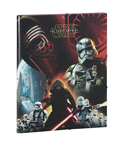 STAR WARS VII : Le Réveil de la Force Kylo Ren, Captain Phasma et Stormtrooper armée fichier avec 3 Rabats (Noir)