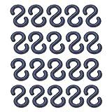 20 Verbindungsglieder für Kunststoff-Absperrketten Ø 6-10 mm - verschiedene Farben, Farbe:schwarz