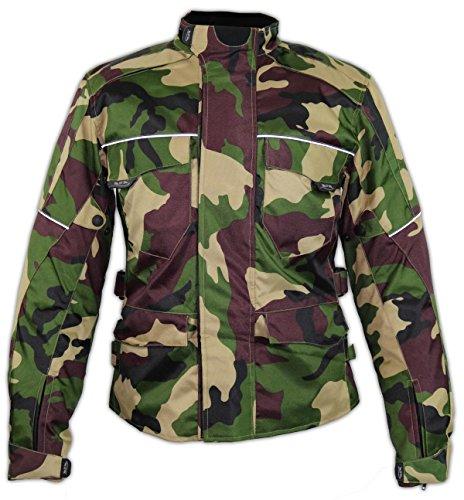 MDM Textil Motorrad Jacke Motorradjacke Camouflage wasserdicht