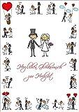 LUSTIGE HOCHZEITSKARTE A4 Glückwunschkarte Hochzeit im XXL / DIN A 4-Format (10686) mit Umschlag von EDITION COLIBRI  - umweltfreundlich, da klimaneutral gedruckt
