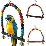 beiguoxia Colorful Vogel Spielzeug Parrot Swing Käfig Ständer Rahmen Nymphensittiche Wellensittiche Aufhängen Hängematte Vogelkäfig Zubehör