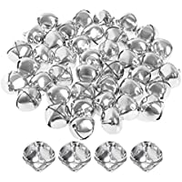 40 Stück Silber Jingle Bells, Borte 25mm neue Jingle Bells Jumbo Jingle Bells Jingle Bell Perlen für das Handwerk