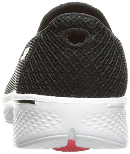 Skechers Go Walk 4 Propel, Baskets Basses Femme Noir (Bkw)