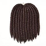 """Originea TM 12"""" 2X Havana Mambo Twist Crochet Braid 4 Packs 33# Dark auburn"""