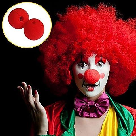 Suministros Escenario loco vestido del partido de la nariz roja de payaso Esponja
