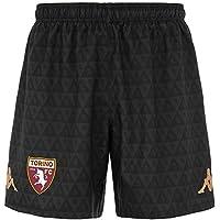 Torino FC Portero, Kombat Shorts Competición para Hombre, Hombre, 3032G90, Grey Dk- Red Granata, Large