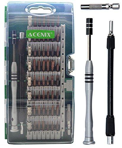Preisvergleich Produktbild ACENIX Universal Reparaturset 60in 1[Aktualisiert S2Version] Präzisions-Schraubendreher-Set, magnetischer Home Tool Kit für Haushalt, iPhone, iPad, Tablet, PC und andere Haushaltsgeräte