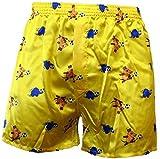 Sendung mit der MAUS BOXERSHORTS Herren Boxers Shorts Unterhosen Boxershorts, Farbe:6. Football/Yellow;Größe:S