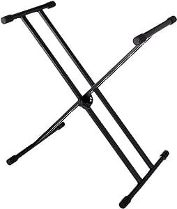 Keyboardständer doppelstrebig schwarz höhenverstellbar