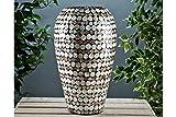 Black Qubd Schwarz qubd Lack Vase Perlmutt. Leicht. Perfekte Hochzeit Geschenk. 41cm hoch,
