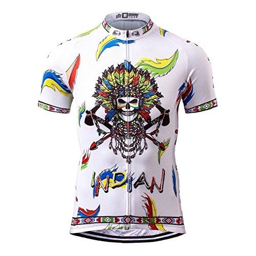 Thriller Rider Sports® Herren Indian Sport & Freizeit MTB Fahrradbekleidung Radtrikot 3X-Large
