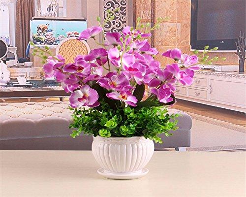 Fiore di emulazione orchid kit home decor e soggiorno camere da letto arredate con gusto fiori artificiali ,A10 bastoni + vasi - Fiore Di Seta Accenti