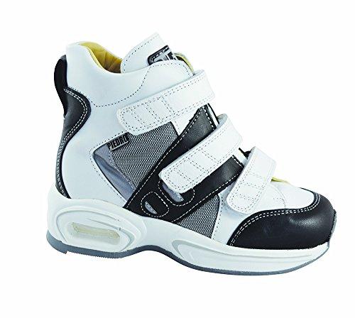 Piedro  Piedro Children's Sports Boots AIR 2111,  Unisex-Kinder Durchgängies Plateau Sandalen mit Keilabsatz Weiß/Schwarz