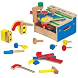 51iwGx51r6L. SL160  - BEST BUY #1 Melissa & Doug Hammer and Saw Tool Bench - Wooden Building Set (32 pcs) Reviews and price compare uk