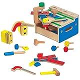 Melissa & Doug - Banco de herramientas con martillo y sierra (9386)