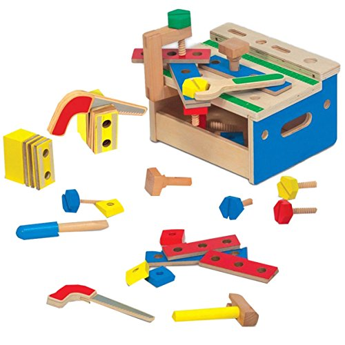 51iwGx51r6L - BEST BUY #1 Melissa & Doug Hammer and Saw Tool Bench - Wooden Building Set (32 pcs) Reviews and price compare uk