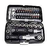 VvXx - Set di 38 mini chiavi a cricchetto di alta qualità da 1/4 di pollice, testa esagonale, trox, fessure per la riparazione di biciclette, materiale S2, accessori multiuso