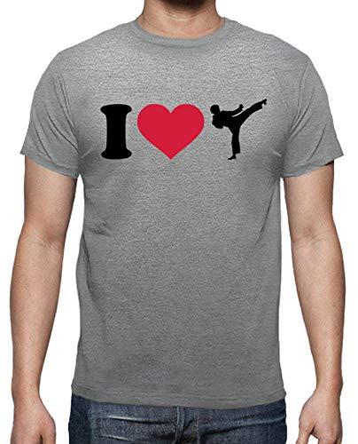 Latostadora - Camiseta Amo Kickboxing Karate Hombre