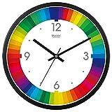 Vinteen Metall Wanduhr Mode Große Regenbogen Quarzuhr Wohnzimmer Schlafzimmer Uhr Tabelle Stillen Moderne Mode Taschenuhr Glas Uhr Und Uhren (Größe : Diameter 40cm)