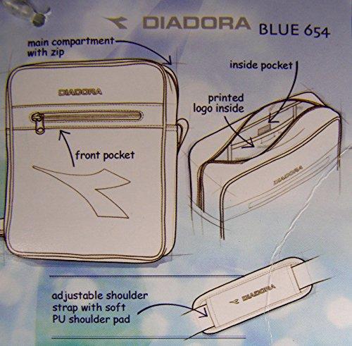 DIADORA MESSENGER BLUE 654 bag borsa borsello unisex tracolla (Misure  cm  34x28x10) f3016aafc8a